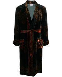 Pierre Louis Mascia - Tie-waist Velvet Kimono - Lyst
