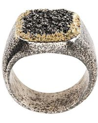 Tobias Wistisen - Grain Effect Chevalière Ring - Lyst
