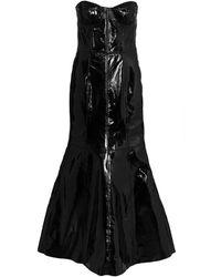 Natasha Zinko パテントレザー イブニングドレス - ブラック