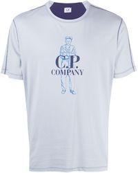 C P Company - ロゴ Tシャツ - Lyst