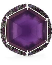 Stephen Webster   Sapphire Diamond Cocktail Ring   Lyst