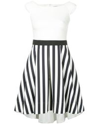 Guild Prime - Contrast Striped Panel Dress - Lyst