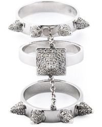 Elise Dray - Diamond Three-piece 'piccadilly' Ring - Lyst