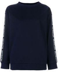 Moncler サイドロゴ スウェットシャツ - ブルー