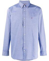 Tommy Hilfiger Overhemd Met Geborduurd Logo - Blauw