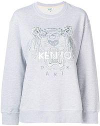 KENZO - Embroidered Logo Sweatshirt - Lyst