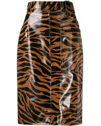 Kwaidan Editions Tiger Print High-waisted Skirt - Multicolour