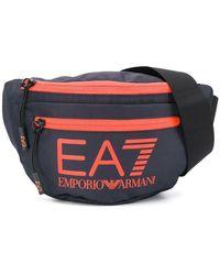 EA7 ロゴ ベルトバッグ - ブラック