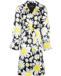 Richard Quinn Floral-print Belted Trenchcoat - White