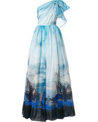 Isabel Sanchis 'Valencia' Robe mit Print - Blau