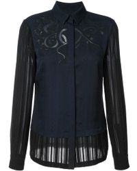 Yigal Azrouël - Embroidered Blouse - Lyst