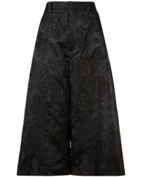 Noir Jewelry - Rose Jacquard Culottes - Lyst