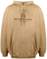 Balenciaga ロゴ パーカー - ナチュラル
