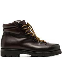 SCAROSSO Padded-ankle Lace-up Boots - Multicolour