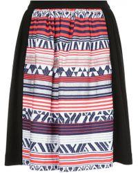 Han Ahn Soon - Embroidered Flared Skirt - Lyst