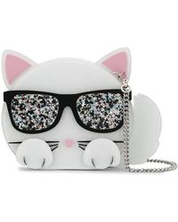 Karl Lagerfeld - Minaudière Choupette Bag In White - Lyst