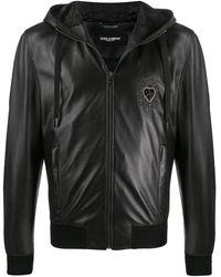 Dolce & Gabbana Crown Heart Embroidered Jacket - Black