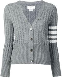Thom Browne - 4-bar Baby Cable Cashmere Cardigan - Lyst
