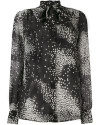 Giambattista Valli Long Sleeve Silk Shirt