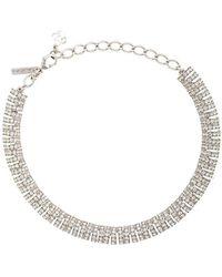 Oscar de la Renta Caterpillar Necklace - Metallic