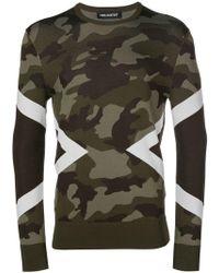 Neil Barrett - Camouflage Pattern Sweatshirt - Lyst