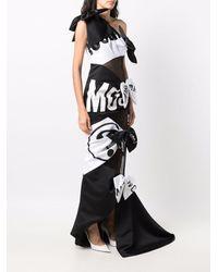 Moschino Patchwork Logo-print Dress - Black