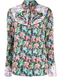 Paco Rabanne Western-style Floral-print Shirt - Multicolour