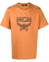 MCM ロゴ Tシャツ - ブラウン