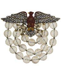 Gucci Broche à ornements en cristal - Métallisé