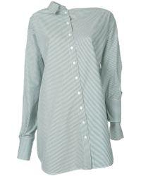 Christopher Esber - Asymmetric Striped Shirt - Lyst