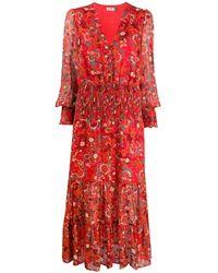 RIXO London Maya Klimt Swirl ドレス - レッド