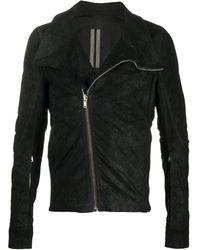 Rick Owens レザージャケット - ブラック