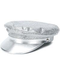 Manokhi - Sequin Biker Hat - Lyst