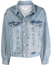 Agolde Washed-effect Denim Jacket - Blue