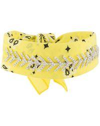 Fallon Jewel embellished bandana choker - Jaune