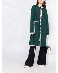 Marni Однобортное Пальто С Запахом - Зеленый