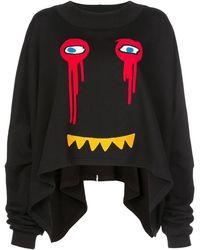 Haculla Drippy Extended スウェットシャツ - ブラック