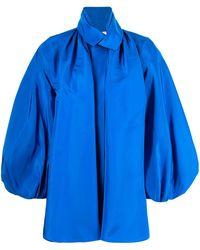 Dice Kayek Camicia stile smoking - Blu