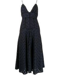 Acler Stanton アイレットレース ドレス - ブルー