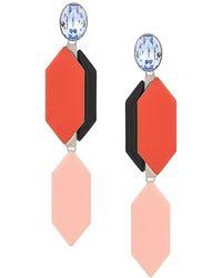 Emilio Pucci Drop Stone Earrings - Orange