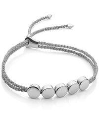 Monica Vinader Bracelet Linear Bead - Métallisé