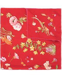 Ferragamo Платок С Цветочным Принтом - Красный