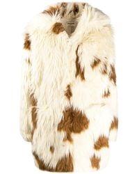 Zadig & Voltaire Faux Fur Long Sleeve Coat - Natural