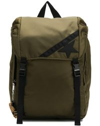 Golden Goose Deluxe Brand Star And Stripe Backpack - Green