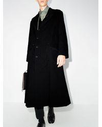 Yohji Yamamoto Пальто Оверсайз - Черный