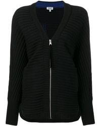 KENZO Zip-up Cardigan - Black