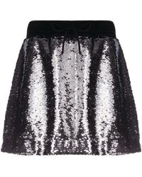 Golden Goose Lilly スパンコール スカート - メタリック