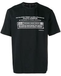 Neil Barrett Warning T-shirt - Black