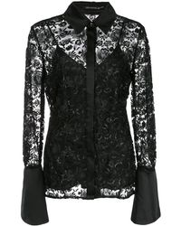 Natori Embroidered Blouse - Black