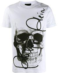 Philipp Plein - T-Shirt mit Totenkopf - Lyst